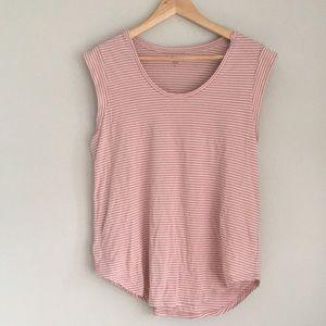 Loft | Cap Sleeve shirt Large